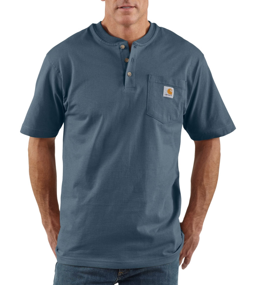 Carhartt Mens Short Sleeve Workwear Henley