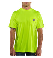 Custom Men's Force™ Color Enhanced HI Visibility Short Sleeve T-shirt from Carhartt