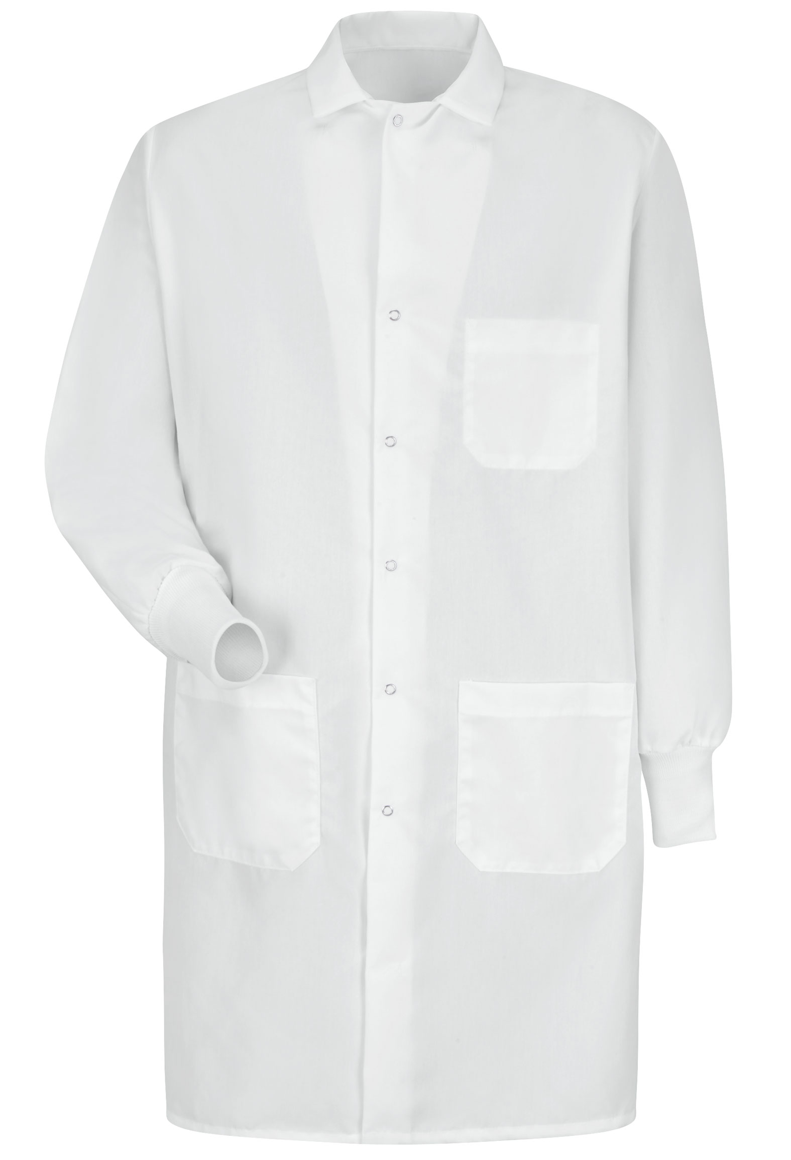 Red Kap Unisex Gripper Closure Cuffed Lab Coat