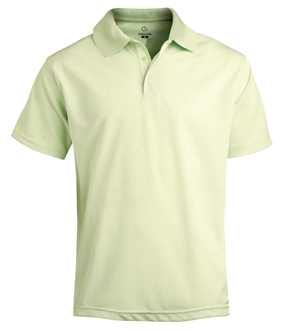 Edwards® Mens High-Performance Mesh Polo