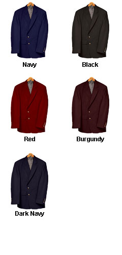 Mens Single-Breasted Polyester Blazer - All Colors