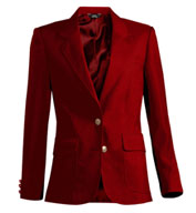 Ladies Single Breasted Polyester Blazer