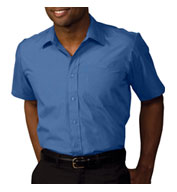 Custom Mens Security Broadcloth Value Short Sleeve Shirt