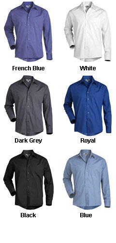 Mens Long Sleeve Broadcloth Work Shirt - All Colors