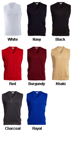 Edwards Unisex V-Neck Sweater Vest - All Colors