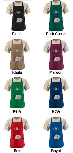 Medium Length Apron with Pouch - All Colors