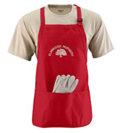 Custom Medium Length Apron with Pouch