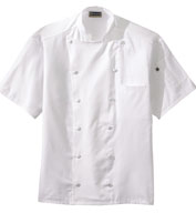 Custom Twelve Button Lightweight Chef Coat with Mesh Back