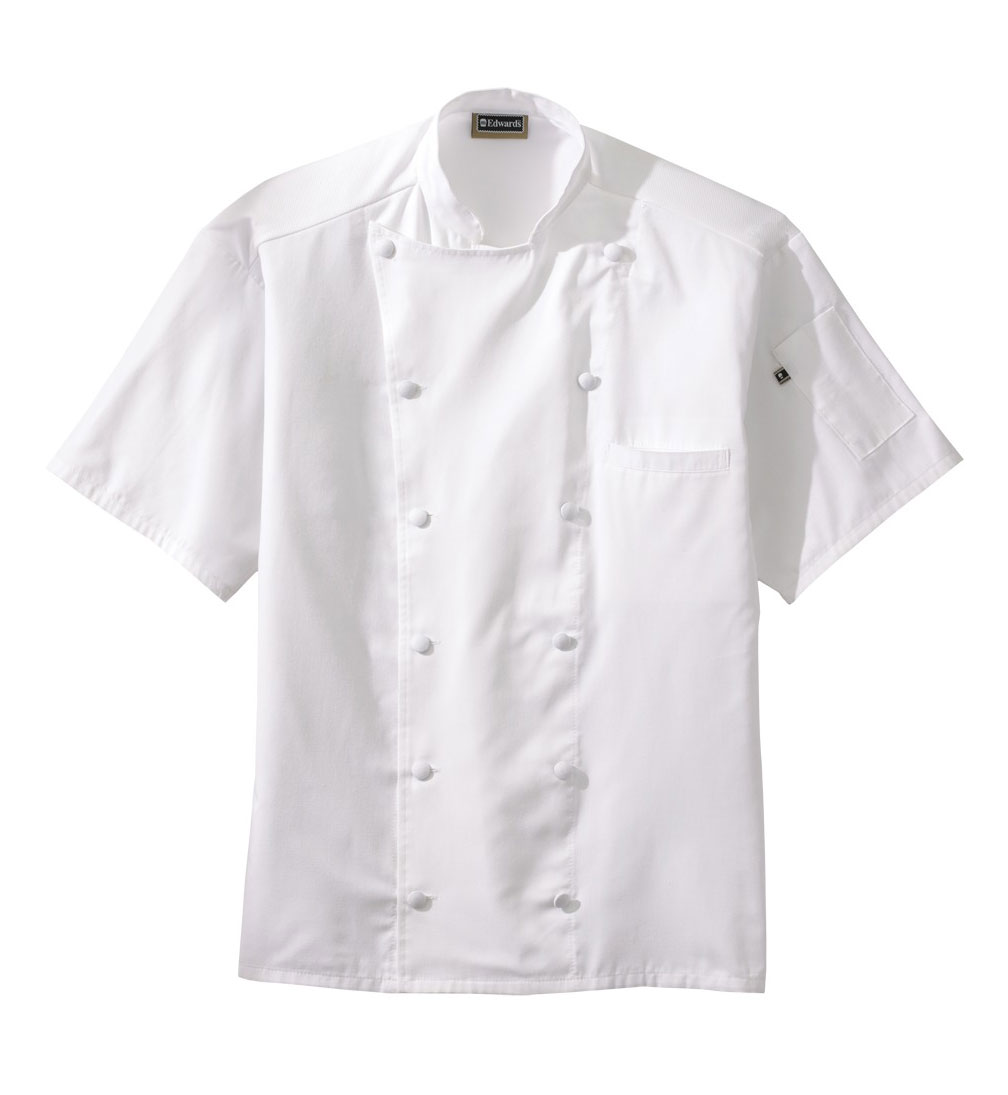 Twelve Button Midweight Adult Chef Coat with Mesh Back