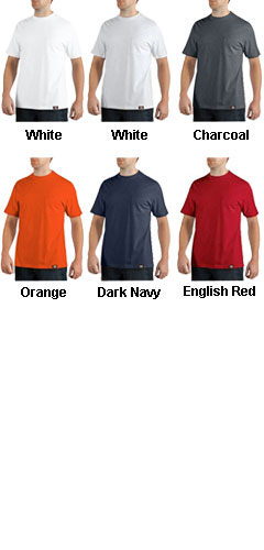 Dickies Short Sleeve 100% Cotton Pocket Tee - All Colors