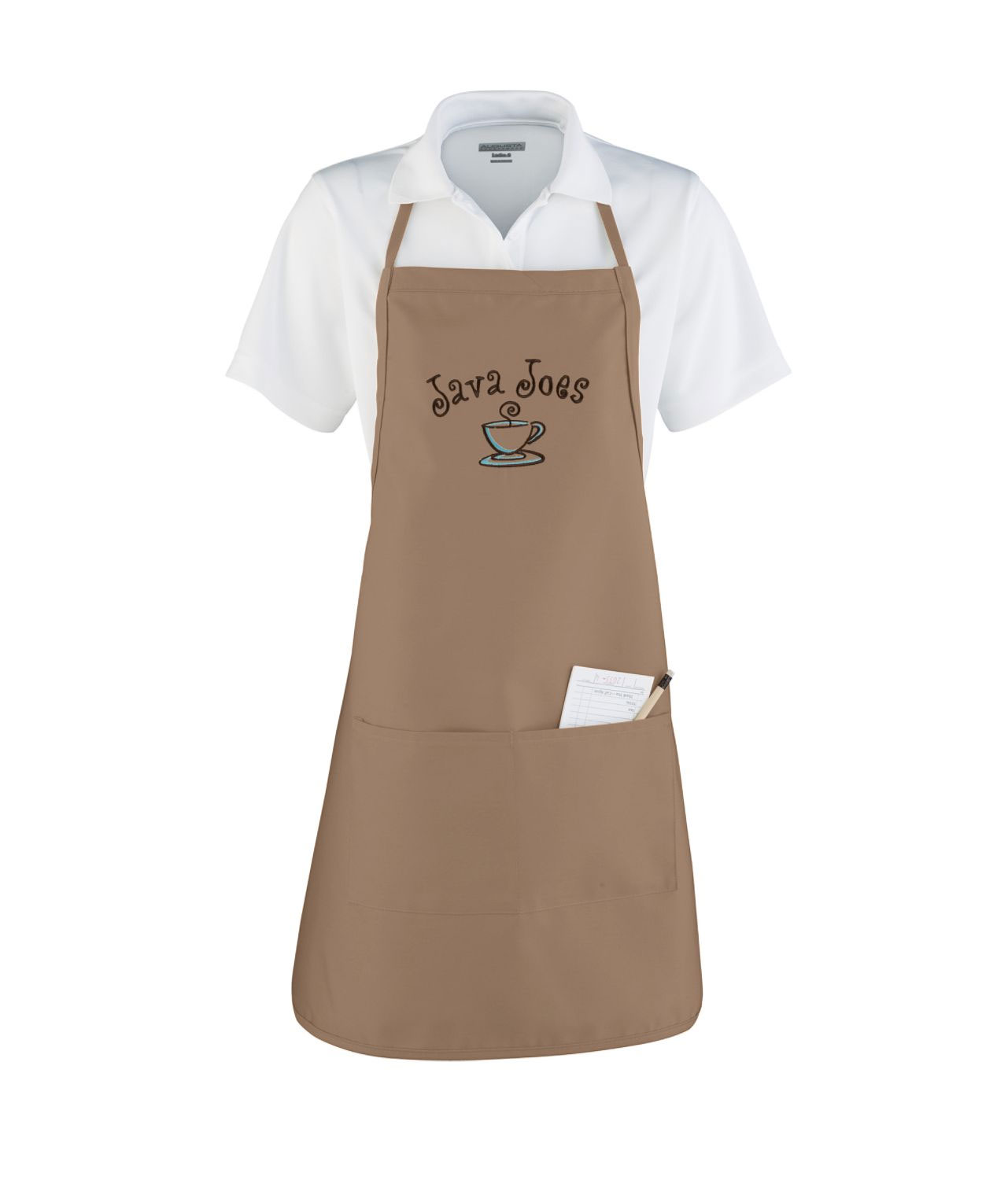 Apron With Adjustable Neck Loop and Waist Ties