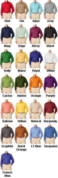 Mens Tall Long Sleeve Stain Release Poplin - All Colors