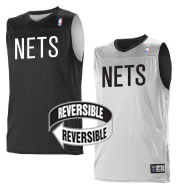 Custom Team NBA Brooklyn Nets Adult Reversible Jersey