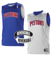 Custom Team NBA Detroit Pistons Adult Reversible Jersey