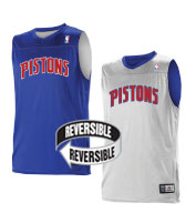 Custom Team NBA Detroit Pistons Youth Reversible Jersey