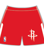 Custom Team NBA Houston Rockets Youth Shorts