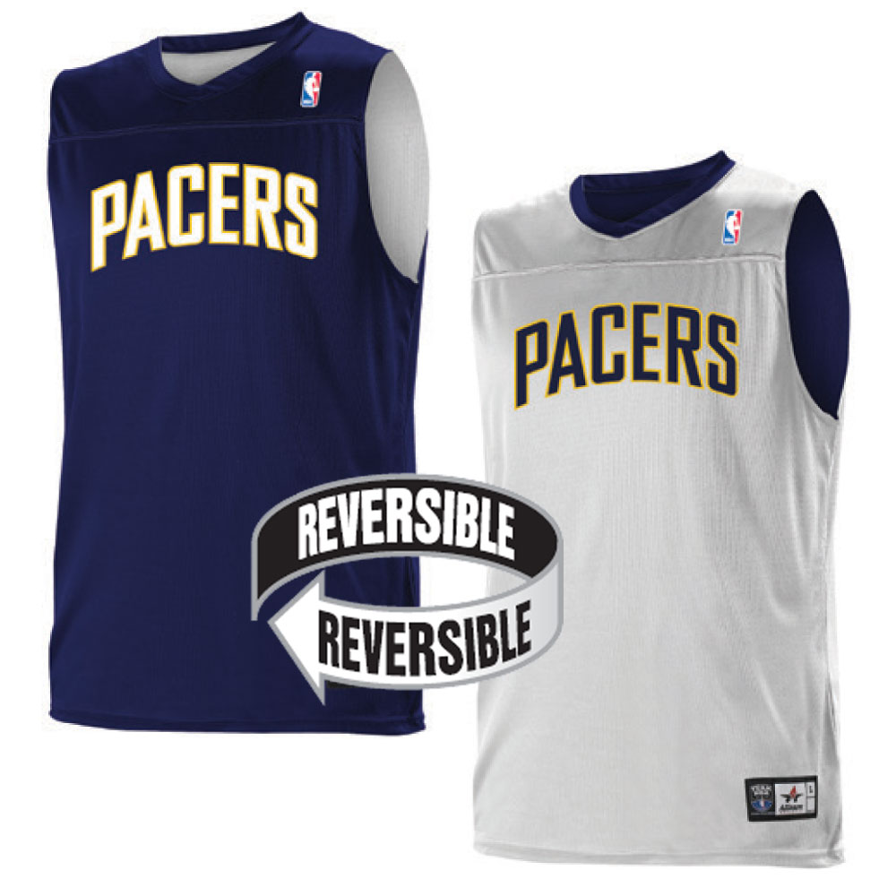 3270c9a5f Custom Team NBA Indiana Pacers Adult Reversible Jersey