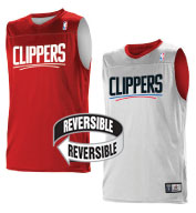 Custom Team NBA Los Angeles Clippers Adult Reversible Jersey