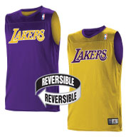 Custom Team NBA Los Angeles Lakers Adult Reversible Jersey