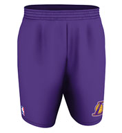 Custom Team NBA Los Angeles Lakers Youth Shorts