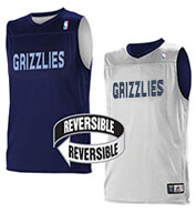 Custom Team NBA Memphis Grizzlies Adult Reversible Jersey