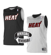 Custom Team NBA Miami Heat Youth Reversible Jersey
