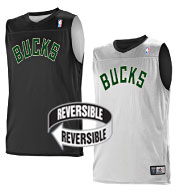 Custom Team NBA Milwaukee Bucks Adult Reversible Jersey