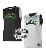 Custom Team NBA Milwaukee Bucks Youth Reversible Jersey