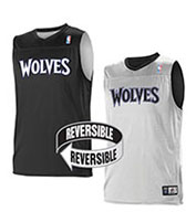 Custom Team NBA Minnesota Timberwolves Youth Reversible Jersey