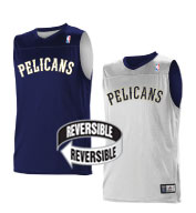 Custom Alleson Youth NBA New Orleans Pelicans Reversible Jersey