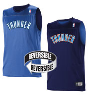 Custom Team NBA Oklahoma City Thunder Adult Reversible Jersey