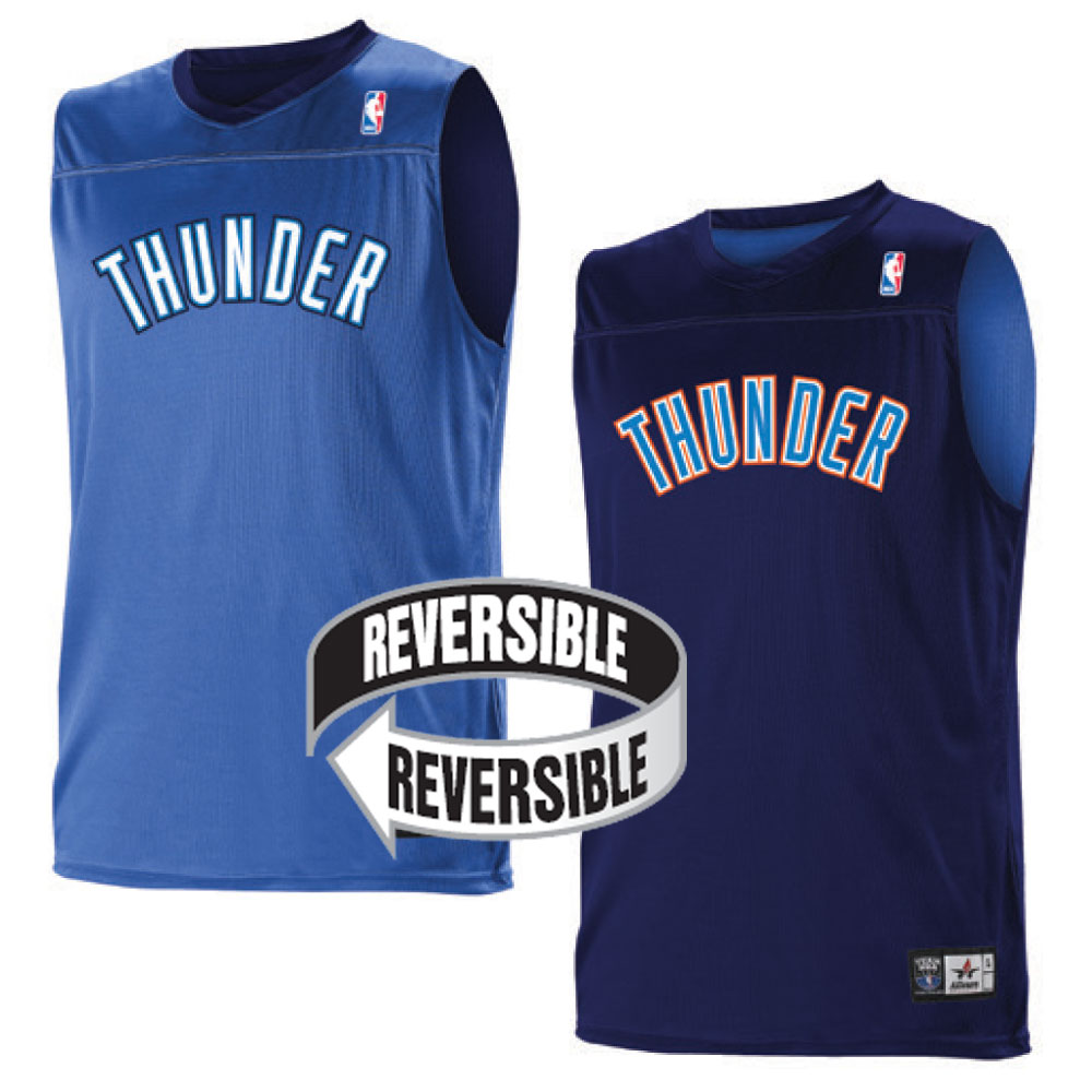 ee7d0512494 Custom Team NBA Oklahoma City Thunder Youth Reversible Jersey
