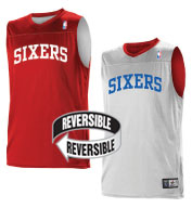 Custom Team NBA Philadelphia 76ers Adult Reversible Jersey
