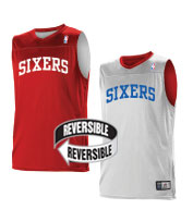 Custom Team NBA Philadelphia 76ers Youth Reversible Jersey