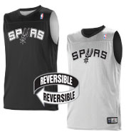 Custom Team NBA San Antonio Spurs Adult Reversible Jersey