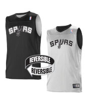 Custom Team NBA San Antonio Spurs Youth Reversible Jersey