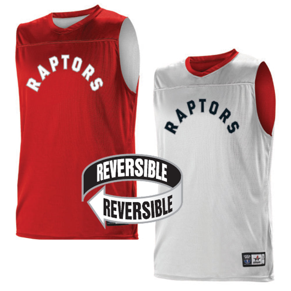 ac990dc45 Custom Team NBA Toronto Raptors Youth Reversible Jersey