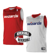 Custom Team NBA Washington Wizards Youth Reversible Jersey