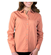 Ladies Long Sleeve Stain Release Poplin