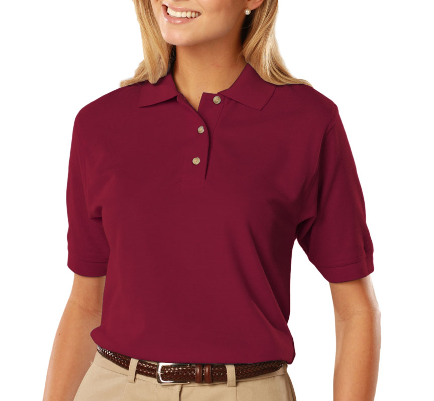 Ladies Egyptian Ringspun Cotton Pique Polos