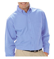Mens Long Sleeve Budget Friendly Poplin Shirt