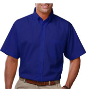 Custom Mens Short Sleeve Budget Friendly Poplin Shirt