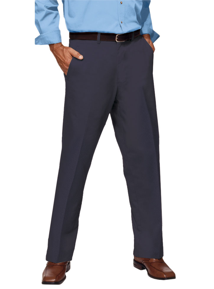 Mens Teflon Treated Twill Flat Front Pants