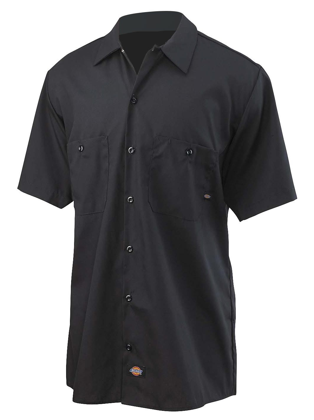Dickies Mens Short-Sleeve Industrial Poplin Work Shirt