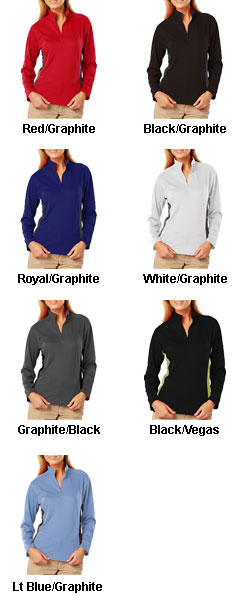 Ladies Moisture Wicking Pullover - All Colors