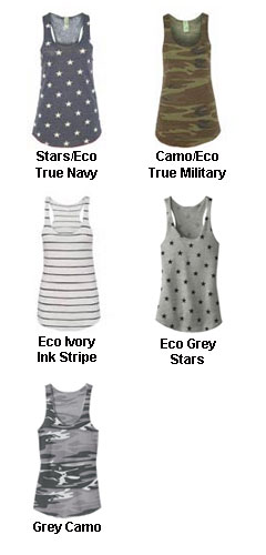 Alternative Apparel Meegs Printed Eco Jersey Racer Tank - All Colors