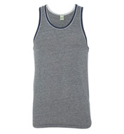 Custom Alternative Apparel Mens Eco Jersey Double Ringer Tank