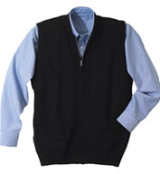 Custom Edwards Mens Cardigan Zip Vest