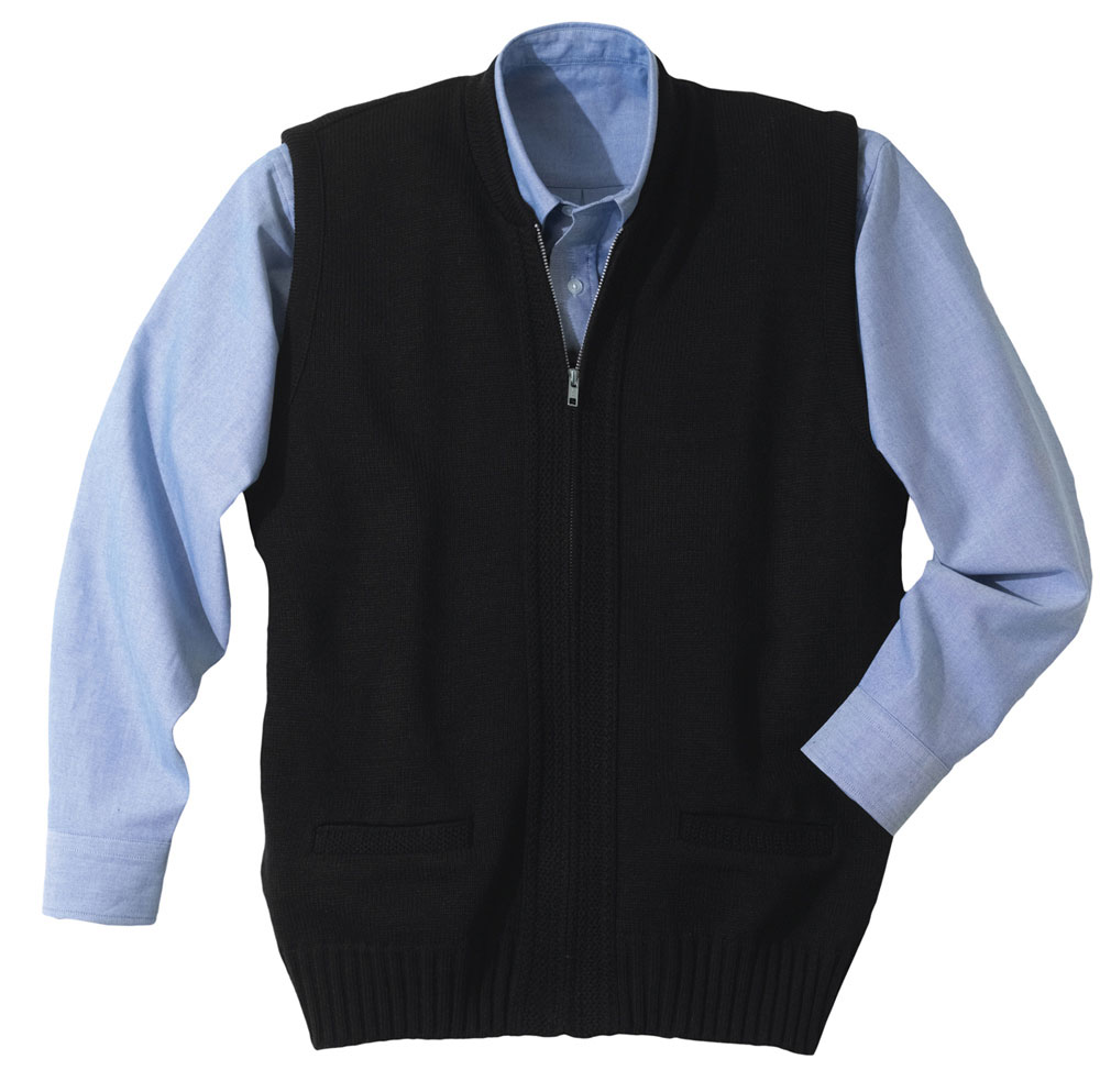 Mens Cardigan Zip Vest