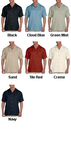 Harriton Mens Bahama Cord Camp Shirt - All Colors